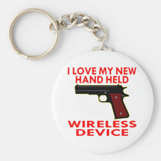 I Love My New Hand Held Wireless Device Keychains