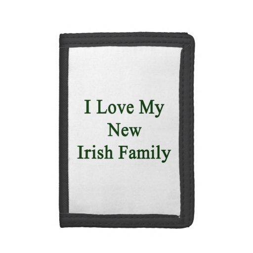 I Love My New Irish Family Tri-fold Wallet