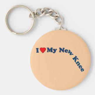 I Love My New Knee Basic Round Button Key Ring