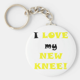 I Love my New Knee Key Ring