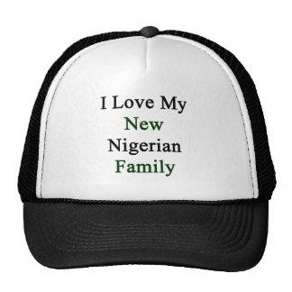I Love My New Nigerian Family Mesh Hats