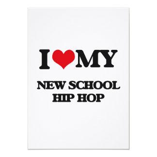 I Love My NEW SCHOOL HIP HOP Custom Invites