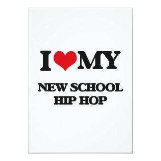 "I Love My NEW SCHOOL HIP HOP 5"" X 7"" Invitation Card"