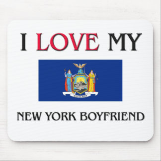 I Love My New York Boyfriend Mouse Pad