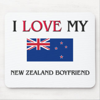 I Love My New Zealand Boyfriend Mouse Pad