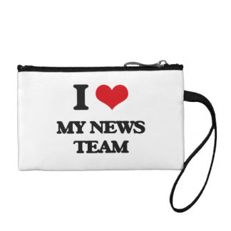 I Love My News Team Coin Wallets