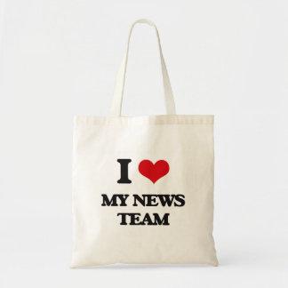 I Love My News Team Bags