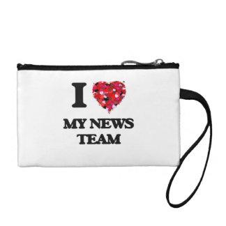 I Love My News Team Change Purse