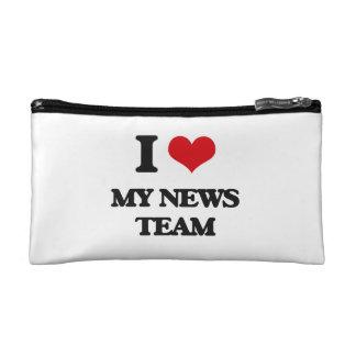 I Love My News Team Cosmetic Bag