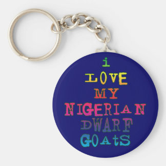 I Love My Nigerian Dwarf Goats Basic Round Button Key Ring