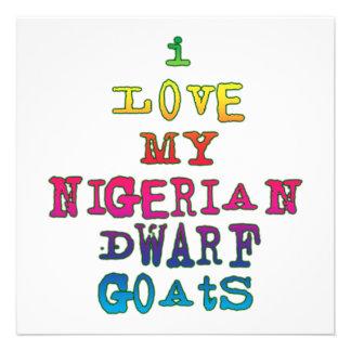 I Love My Nigerian Dwarf Goats Invite