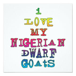 I Love My Nigerian Dwarf Goats 5.25x5.25 Square Paper Invitation Card