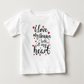 I Love my Nonna with All my Heart Baby T-Shirt