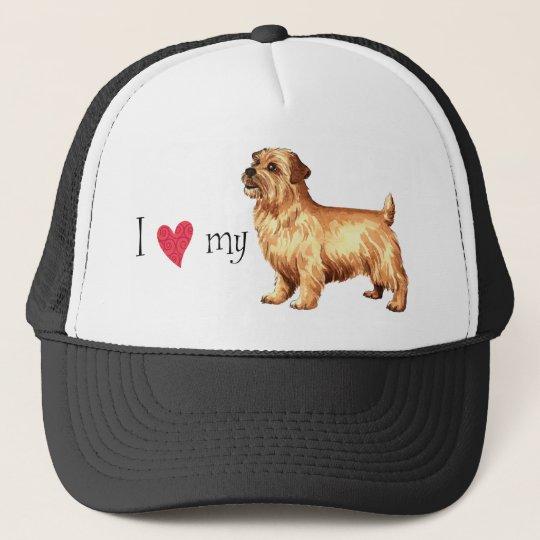 I Love my Norfolk Terrier Cap