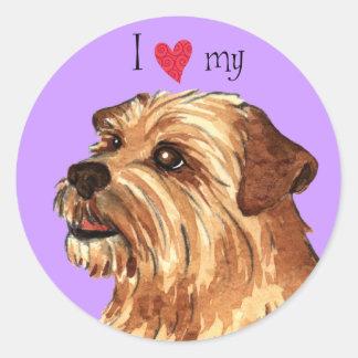 I Love my Norfolk Terrier Classic Round Sticker