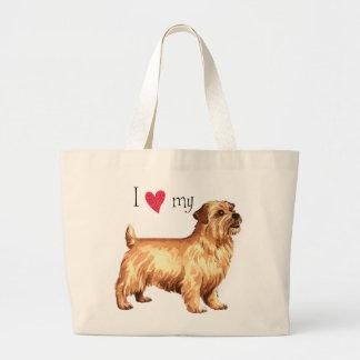 I Love my Norfolk Terrier Large Tote Bag