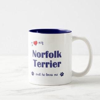 I Love My Norfolk Terrier (Male Dog) Two-Tone Mug