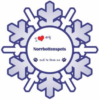 I Love My Norrbottenspets (Male Dog) Photo Sculpture Decoration