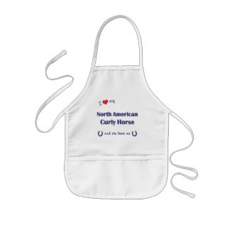 I Love My North American Curly Horse (Female) Kids Apron