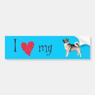 I Love my Norwegian Elkhound Bumper Sticker