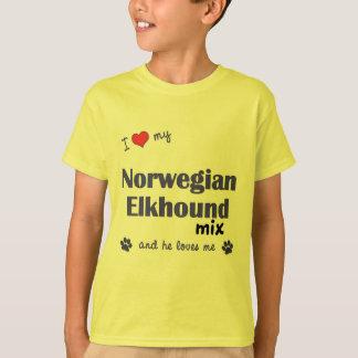 I Love My Norwegian Elkhound Mix (Male Dog) T-Shirt