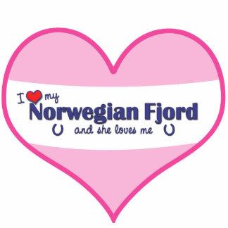 I Love My Norwegian Fjord (Female Horse) Standing Photo Sculpture