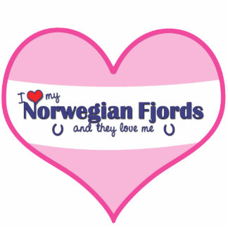 I Love My Norwegian Fjords (Multiple Horses) Standing Photo Sculpture