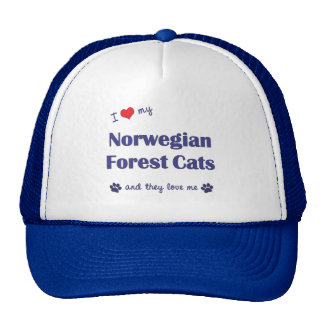 I Love My Norwegian Forest Cats (Multiple Cats) Cap