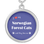 I Love My Norwegian Forest Cats (Multiple Cats) Custom Necklace