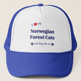 I Love My Norwegian Forest Cats (Multiple Cats) Trucker Hat