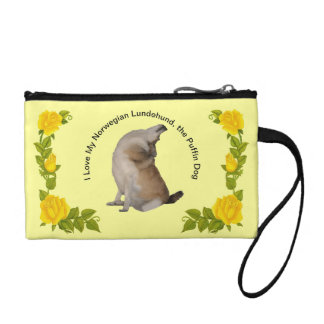 I Love My Norwegian Lundehund, the Puffin Dog Coin Purse