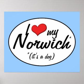 I Love My Norwich (It's a Dog) Print