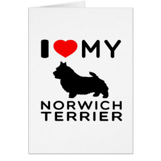 I Love My Norwich Terrier. Card