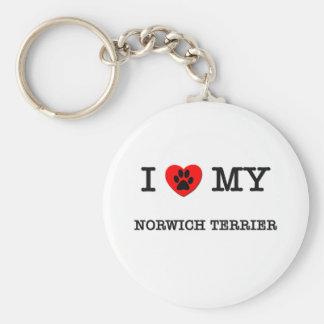I LOVE MY NORWICH TERRIER KEY RING