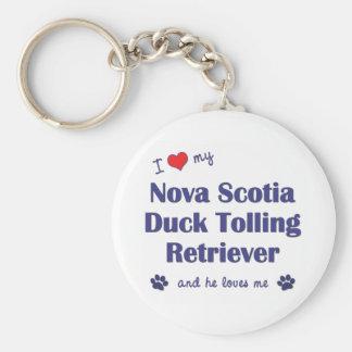 I Love My Nova Scotia Duck Tolling Retriever (He) Key Ring