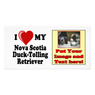 I Love My Nova Scotia Duck-Tolling Retriever Photo Card Template