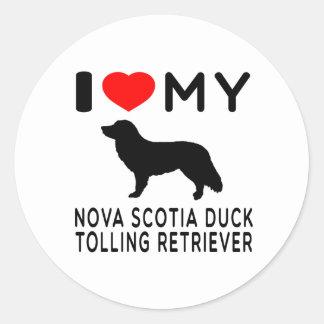 I Love My Nova Scotia Duck Tolling Retriever Sticker