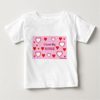 I Love My Nurse - Hearts Baby T-Shirt