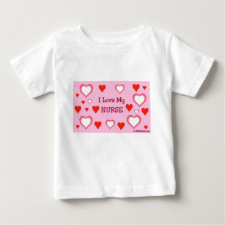 I Love My Nurse - Hearts T-shirt