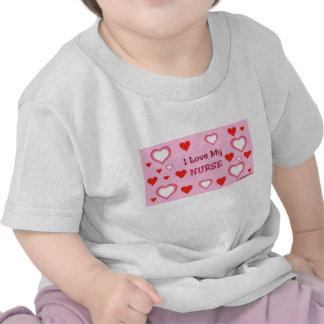I Love My Nurse - Hearts Tee Shirts