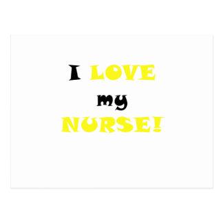 I Love my Nurse Postcards