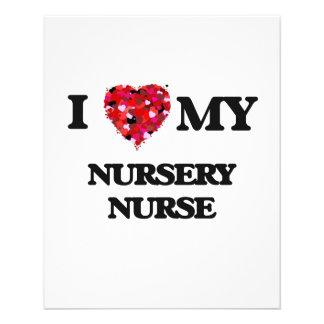 "I love my Nursery Nurse 4.5"" X 5.6"" Flyer"