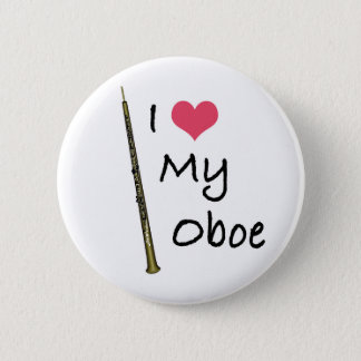I Love My Oboe 6 Cm Round Badge