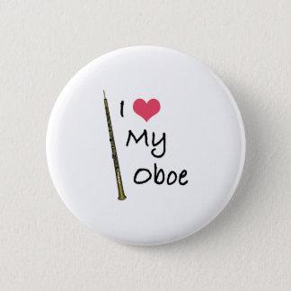 I Love My Oboe 6 Cm Round Badge