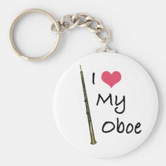 I Love My Oboe Basic Round Button Key Ring