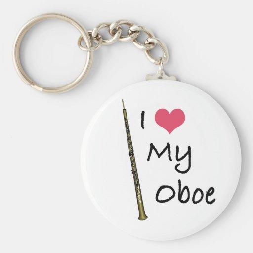 I Love My Oboe Key Chains
