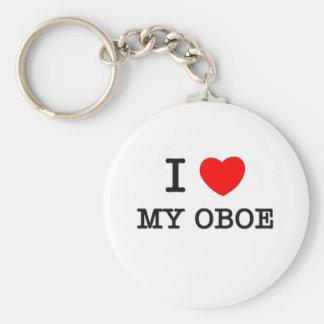 I Love My Oboe Key Chain