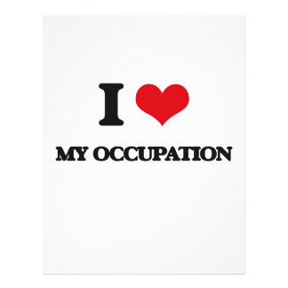 I Love My Occupation Custom Flyer