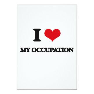 I Love My Occupation 3.5x5 Paper Invitation Card