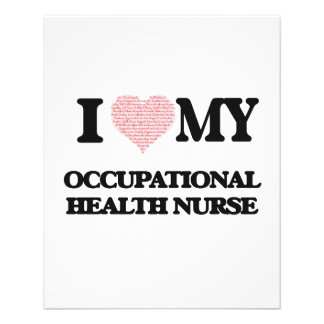 I love my Occupational Health Nurse (Heart Made fr 11.5 Cm X 14 Cm Flyer